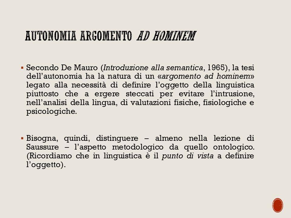 Autonomia argomento ad hominem