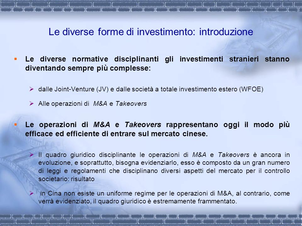 Le diverse forme di investimento: introduzione