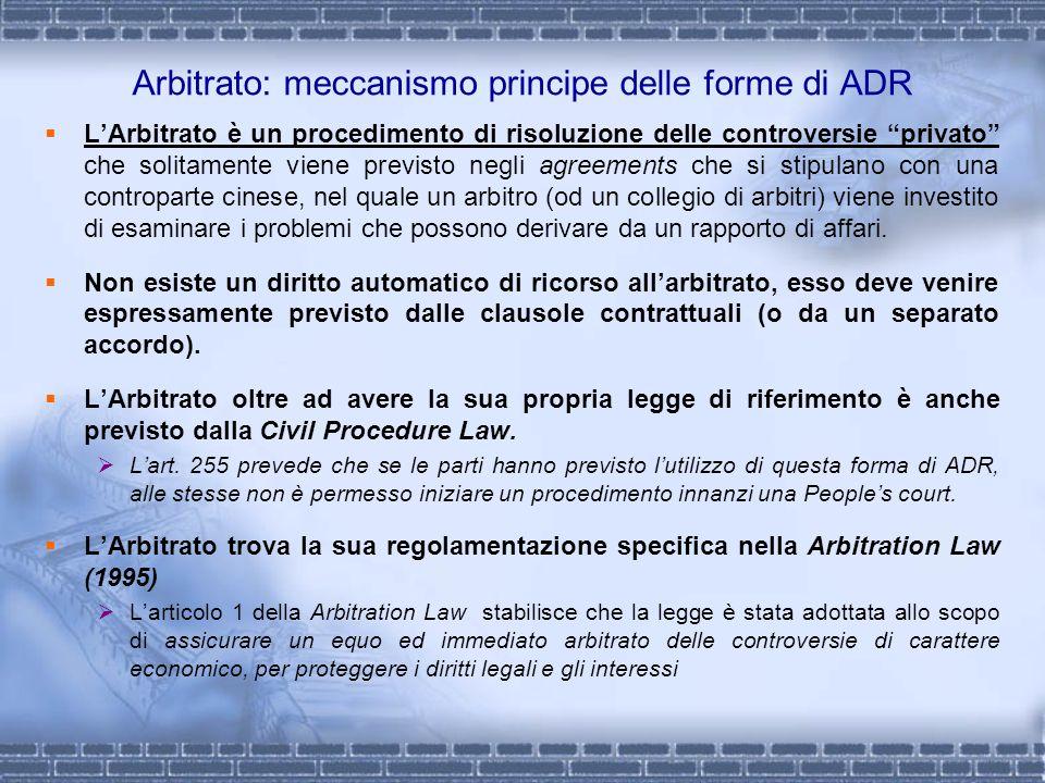 Arbitrato: meccanismo principe delle forme di ADR