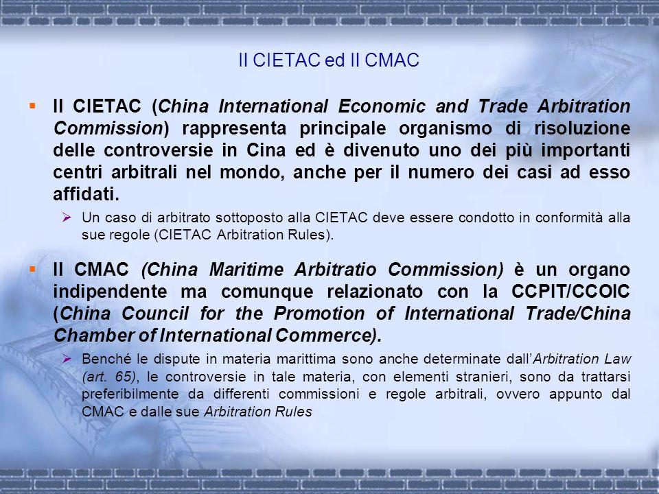 Il CIETAC ed Il CMAC