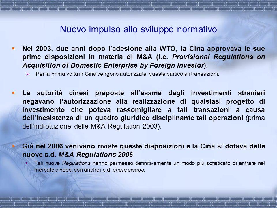 Nuovo impulso allo sviluppo normativo