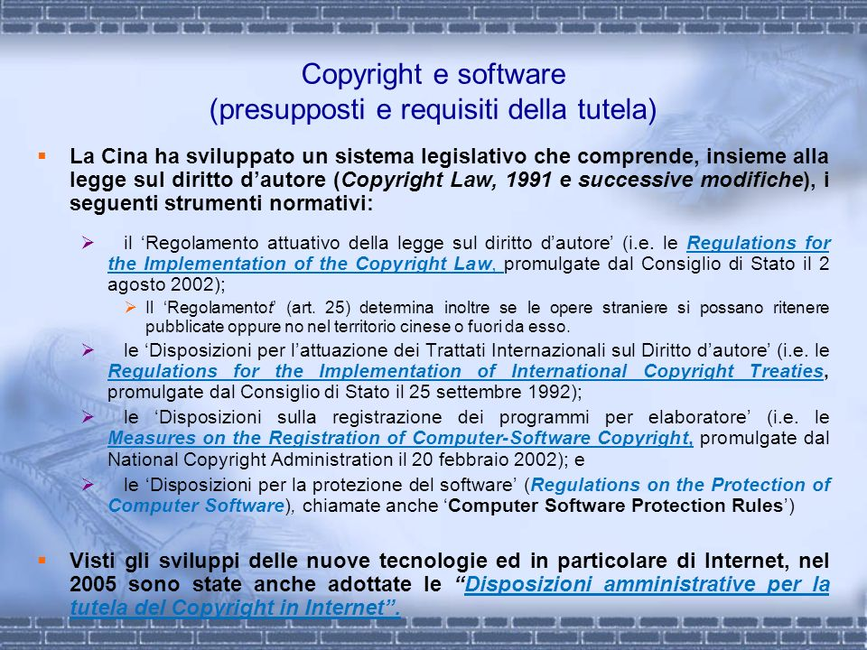 Copyright e software (presupposti e requisiti della tutela)