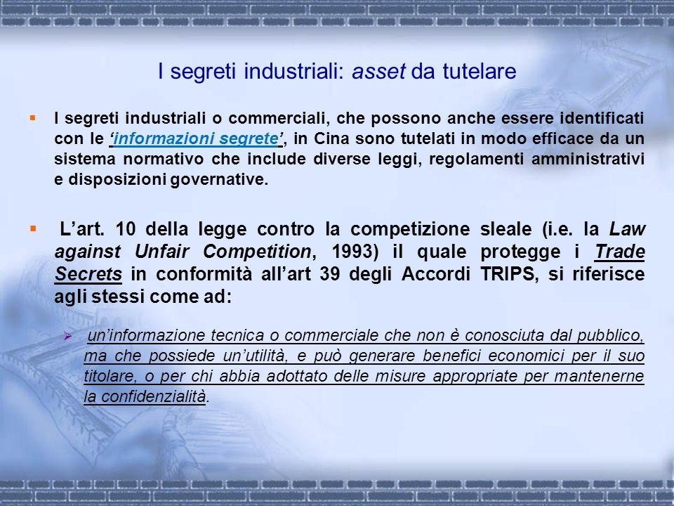 I segreti industriali: asset da tutelare
