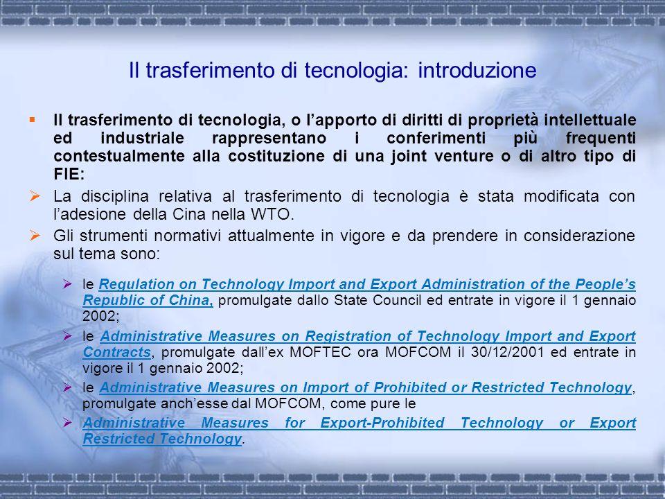 Il trasferimento di tecnologia: introduzione