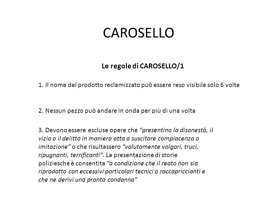 Le regole di CAROSELLO/1