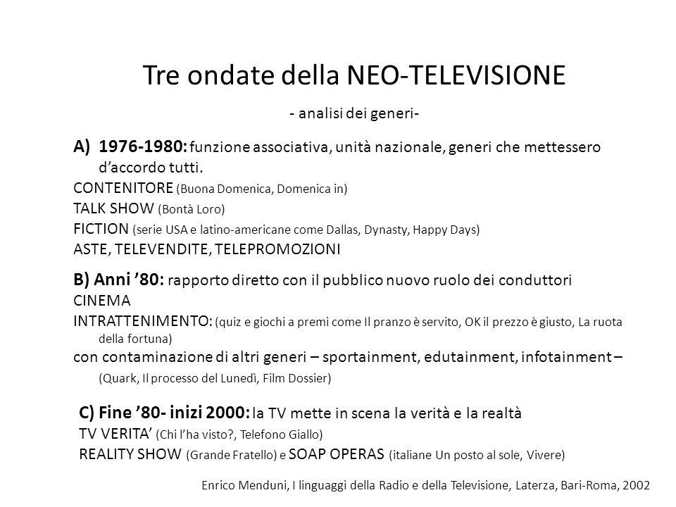 Tre ondate della NEO-TELEVISIONE