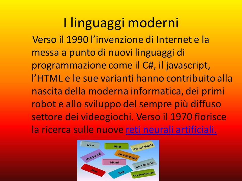 I linguaggi moderni