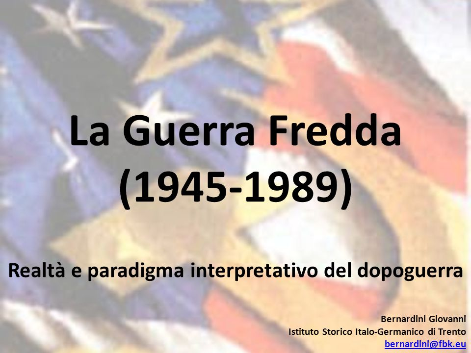 Realtà e paradigma interpretativo del dopoguerra