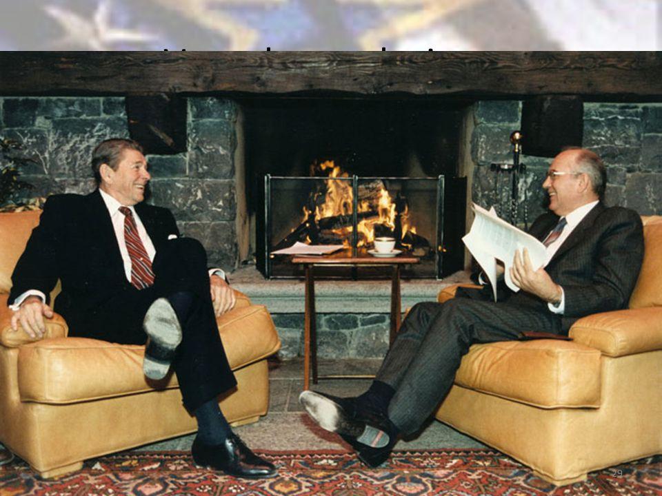 Verso la conclusione Ascesa di Gorbacev, atteggiamento più conciliante della seconda Amministrazione Reagan.
