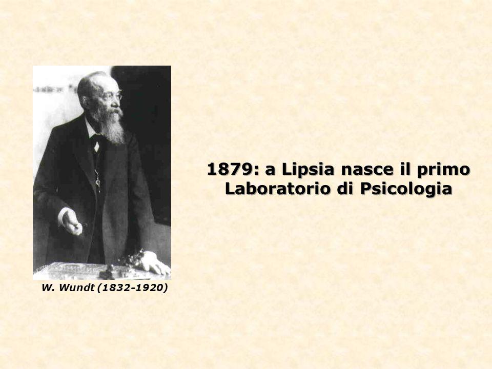 1879: a Lipsia nasce il primo Laboratorio di Psicologia