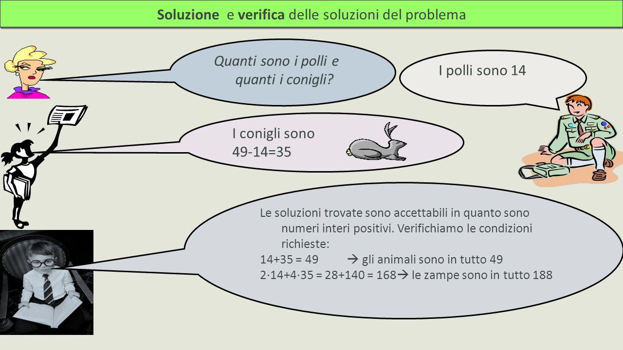 Soluzione e verifica delle soluzioni del problema