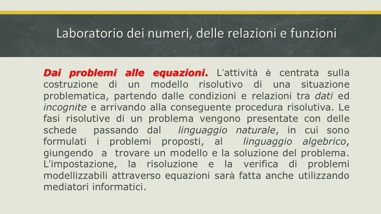 Laboratorio dei numeri, delle relazioni e funzioni