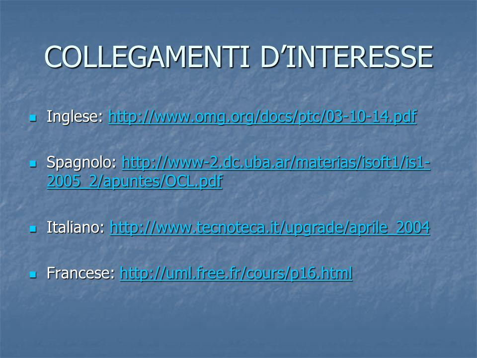 COLLEGAMENTI D'INTERESSE