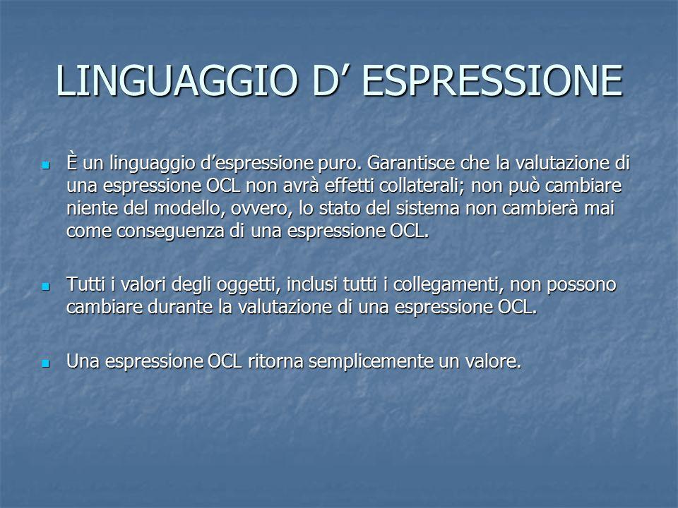 LINGUAGGIO D' ESPRESSIONE