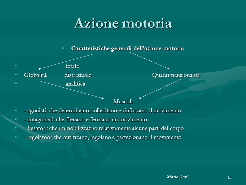 Caratteristiche generali dell'azione motoria