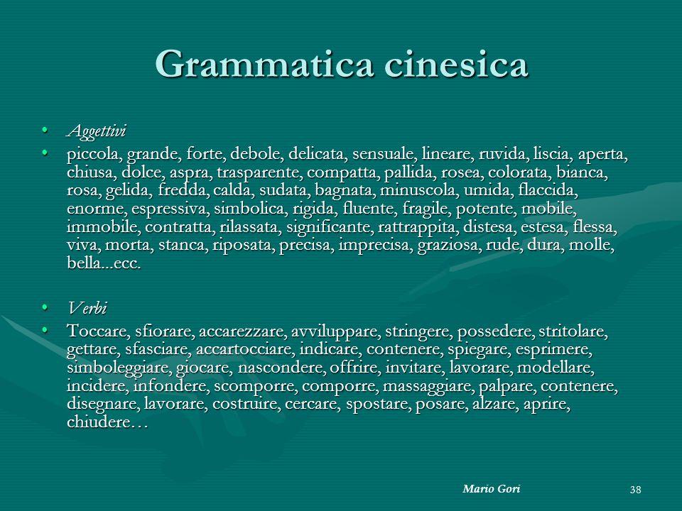 Grammatica cinesica Aggettivi
