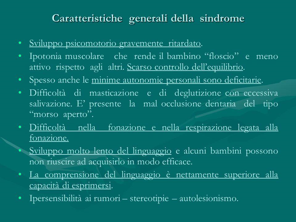 Caratteristiche generali della sindrome