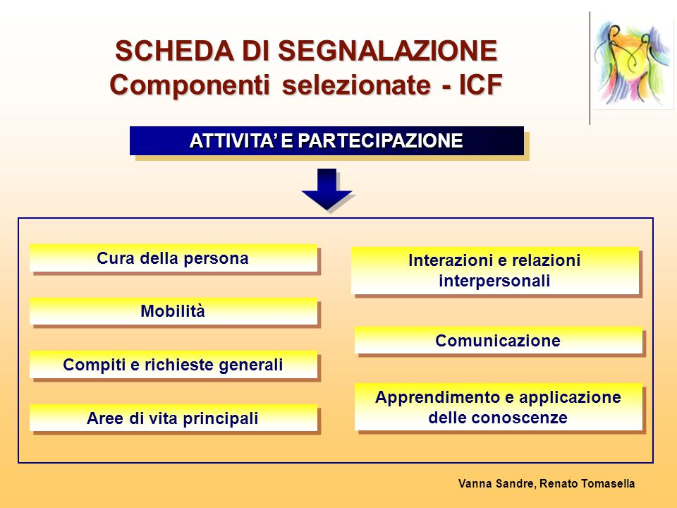 SCHEDA DI SEGNALAZIONE Componenti selezionate - ICF