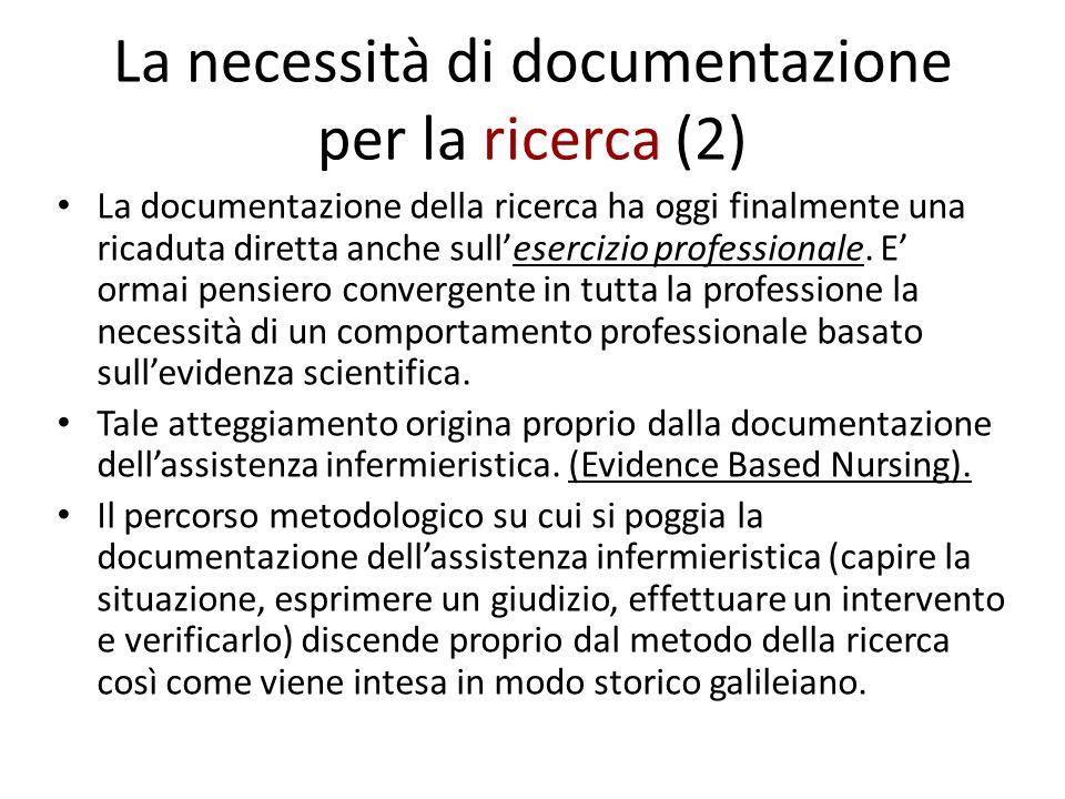 La necessità di documentazione per la ricerca (2)
