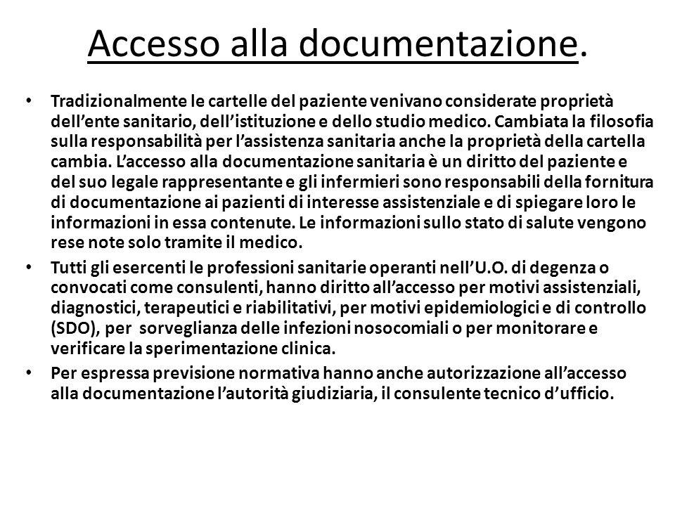 Accesso alla documentazione.