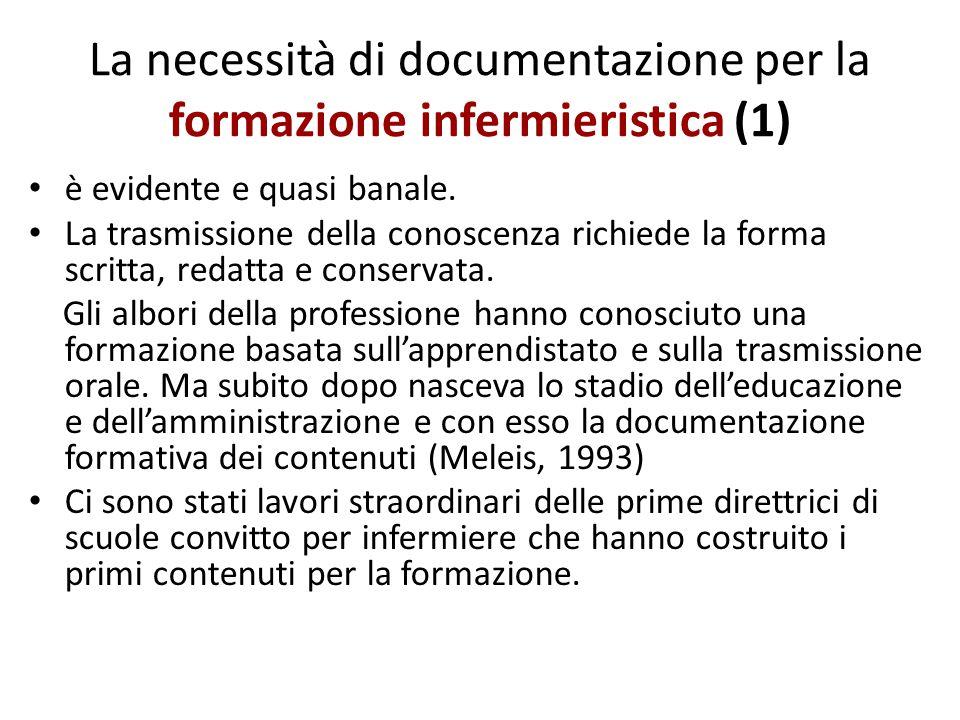 La necessità di documentazione per la formazione infermieristica (1)