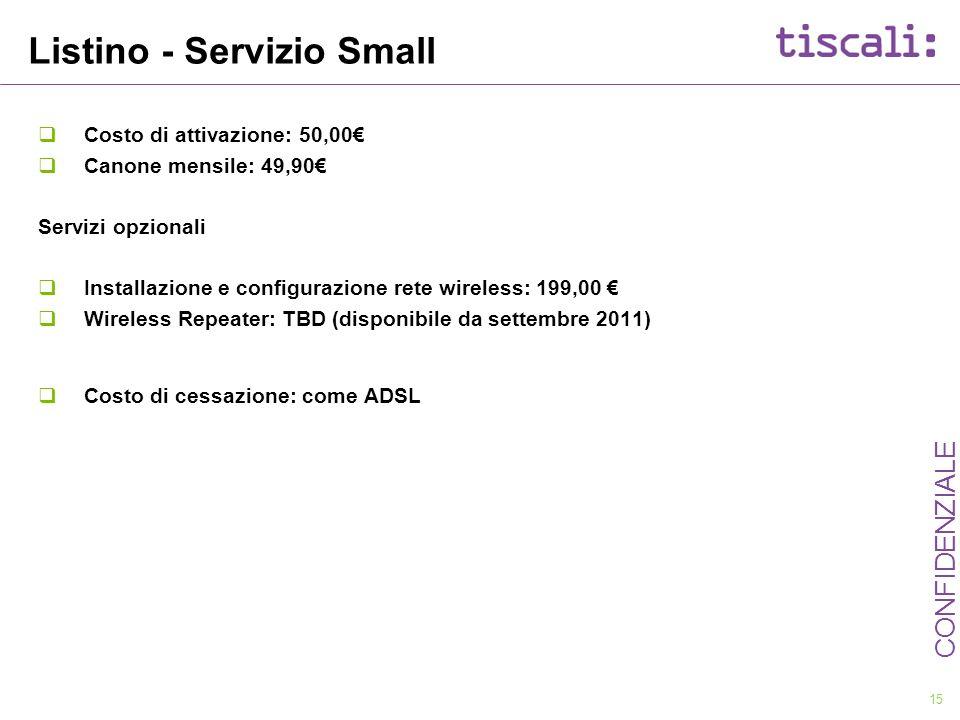 Listino - Servizio Small