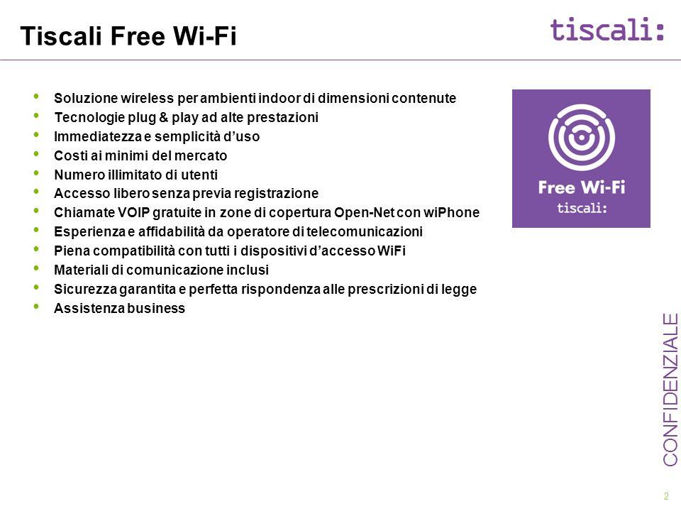 Tiscali Free Wi-Fi Soluzione wireless per ambienti indoor di dimensioni contenute. Tecnologie plug & play ad alte prestazioni.