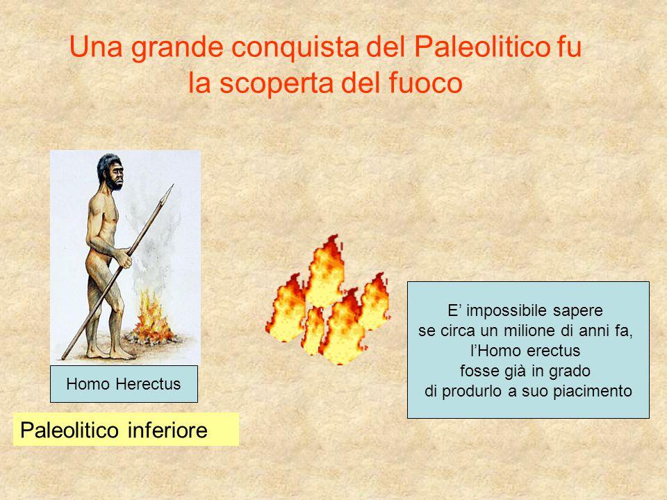 Una grande conquista del Paleolitico fu la scoperta del fuoco