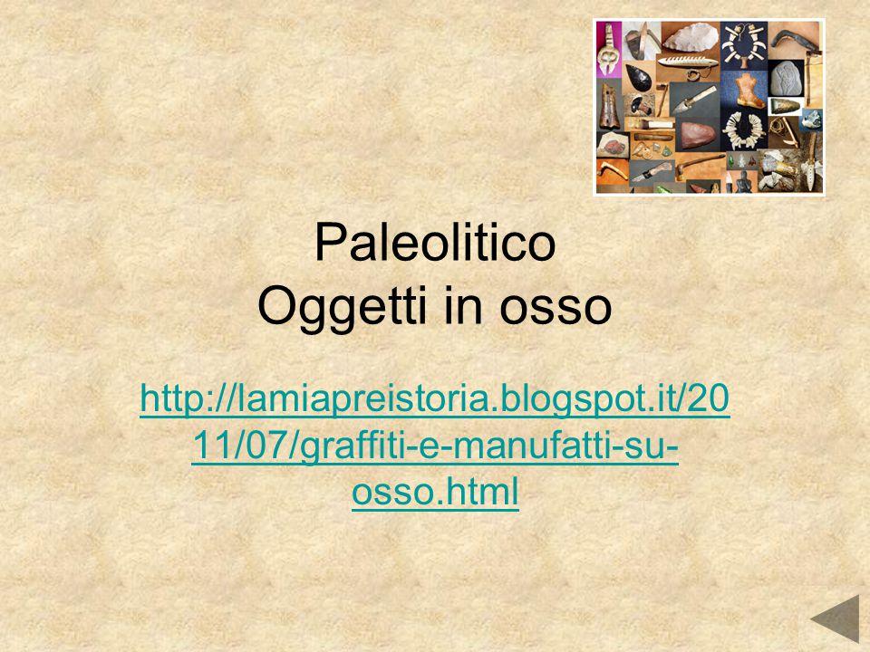 Paleolitico Oggetti in osso