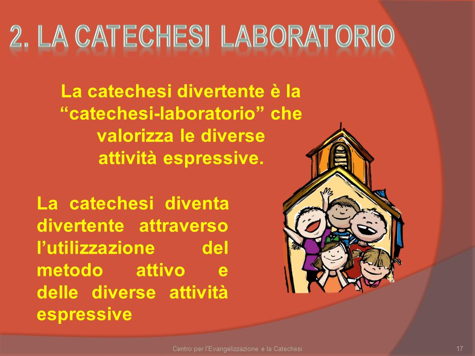 2. la catechesi laboratorio