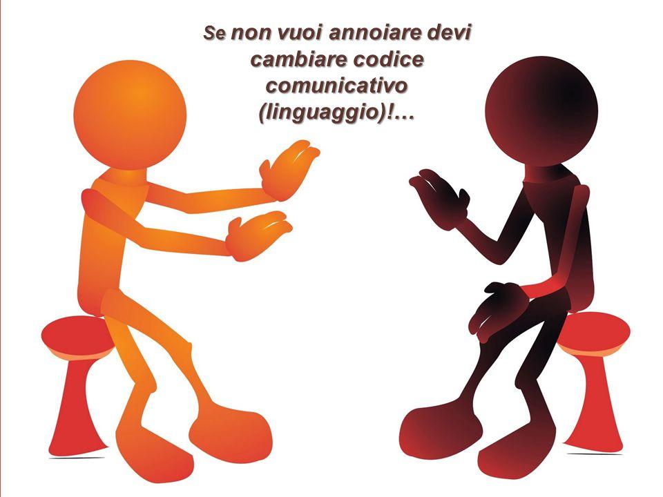 Se non vuoi annoiare devi cambiare codice comunicativo (linguaggio)!…