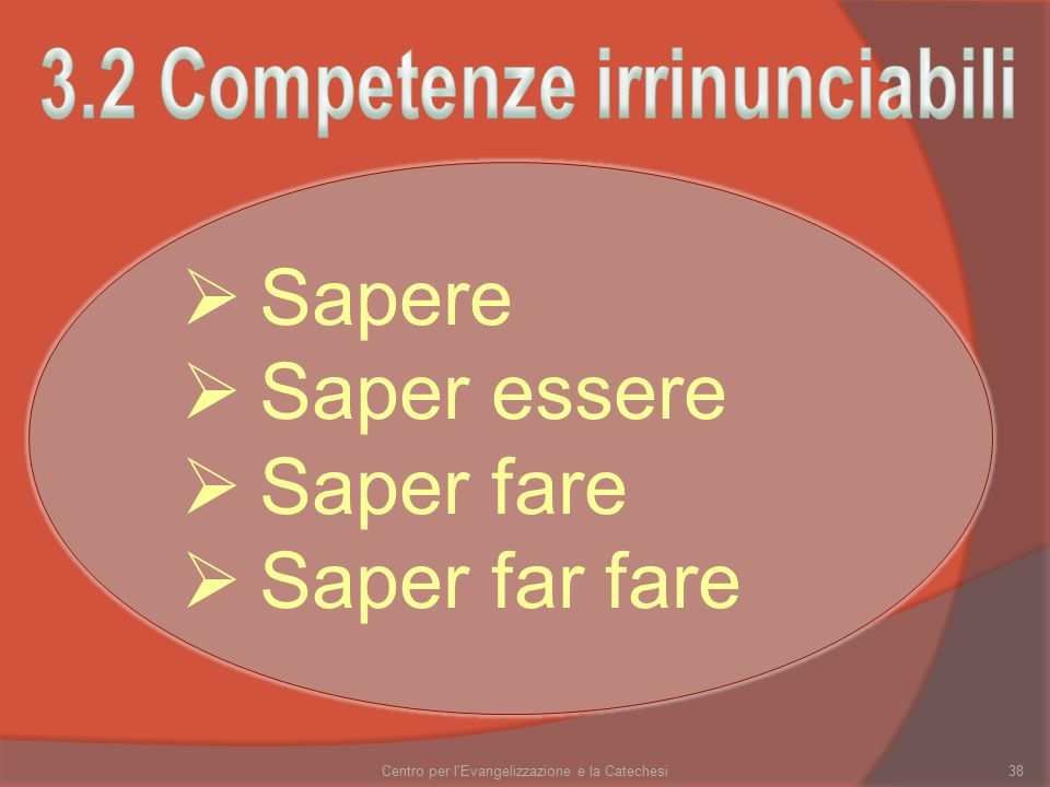3.2 Competenze irrinunciabili