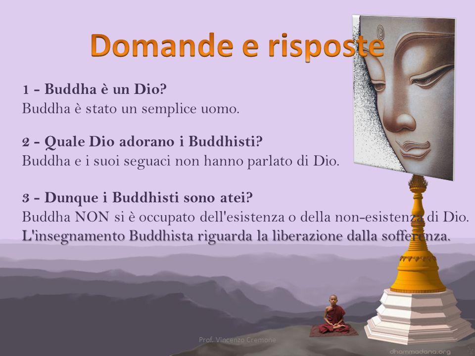 Domande e risposte 1 - Buddha è un Dio