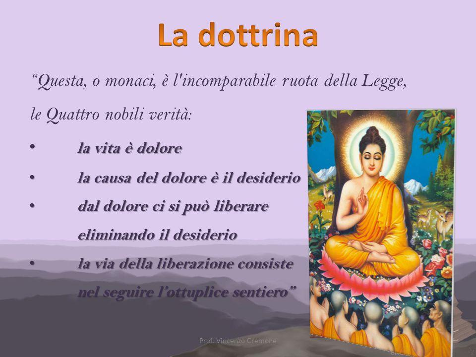 La dottrina Questa, o monaci, è l incomparabile ruota della Legge,