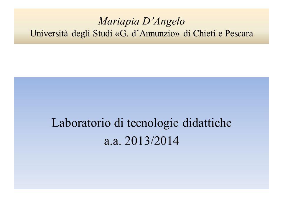 Laboratorio di tecnologie didattiche a.a. 2013/2014