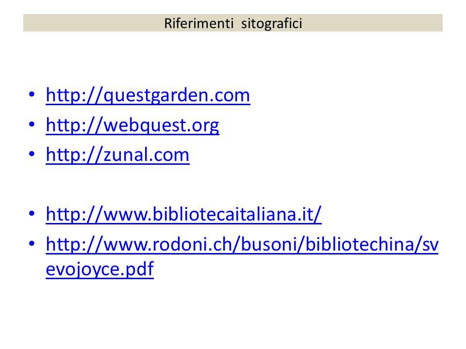 Riferimenti sitografici