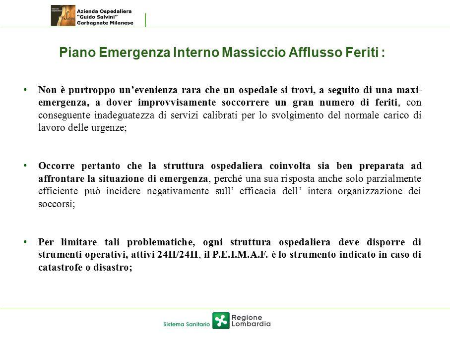 Piano Emergenza Interno Massiccio Afflusso Feriti :