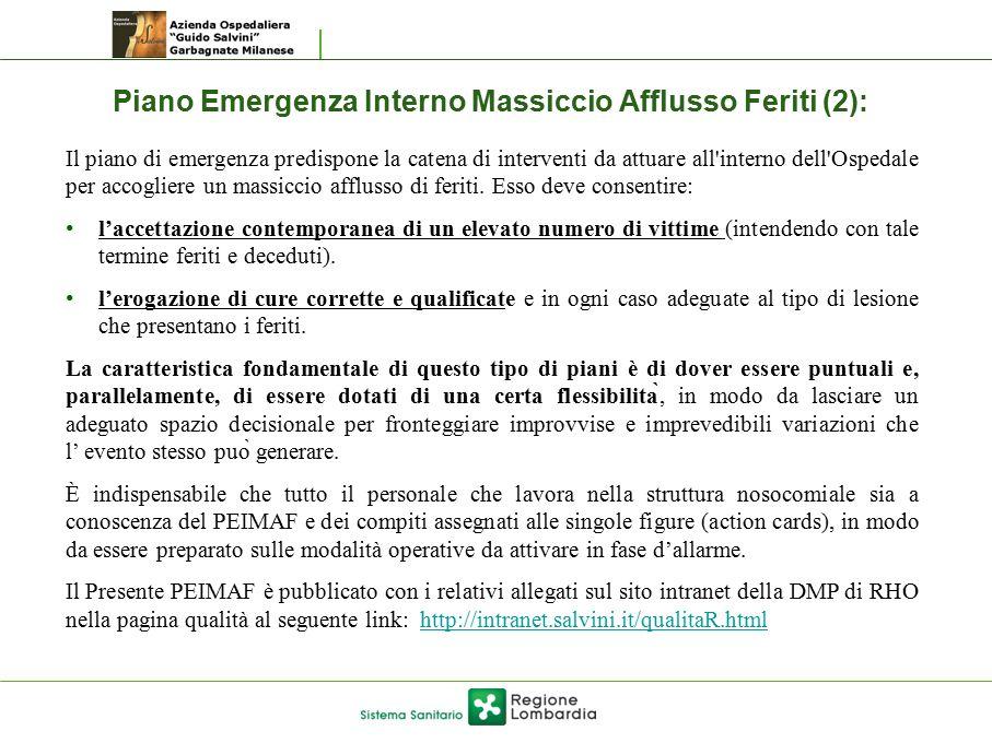 Piano Emergenza Interno Massiccio Afflusso Feriti (2):