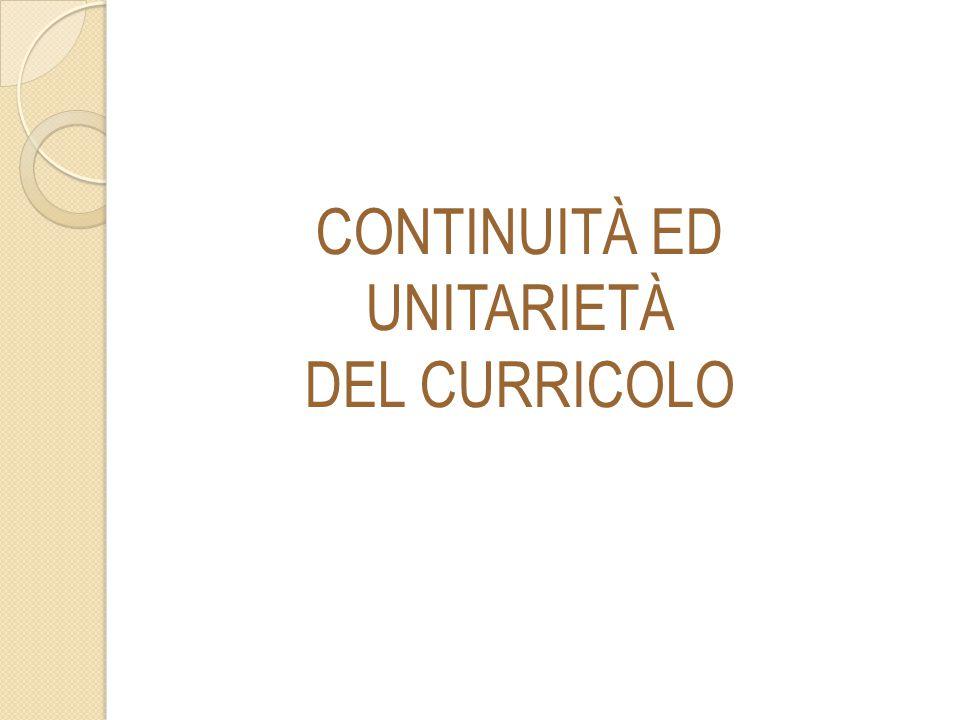 CONTINUITÀ ED UNITARIETÀ