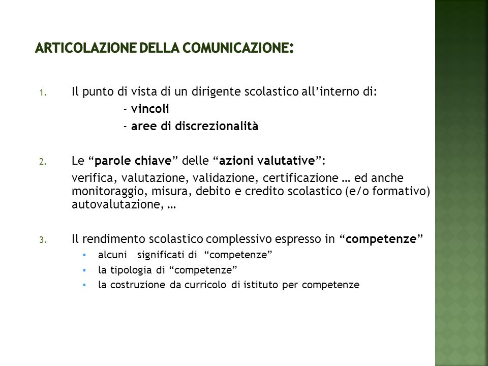 Articolazione della comunicazione: