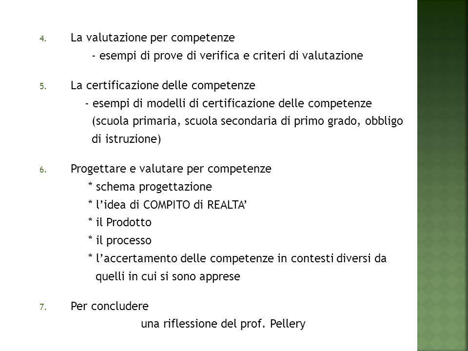 La valutazione per competenze