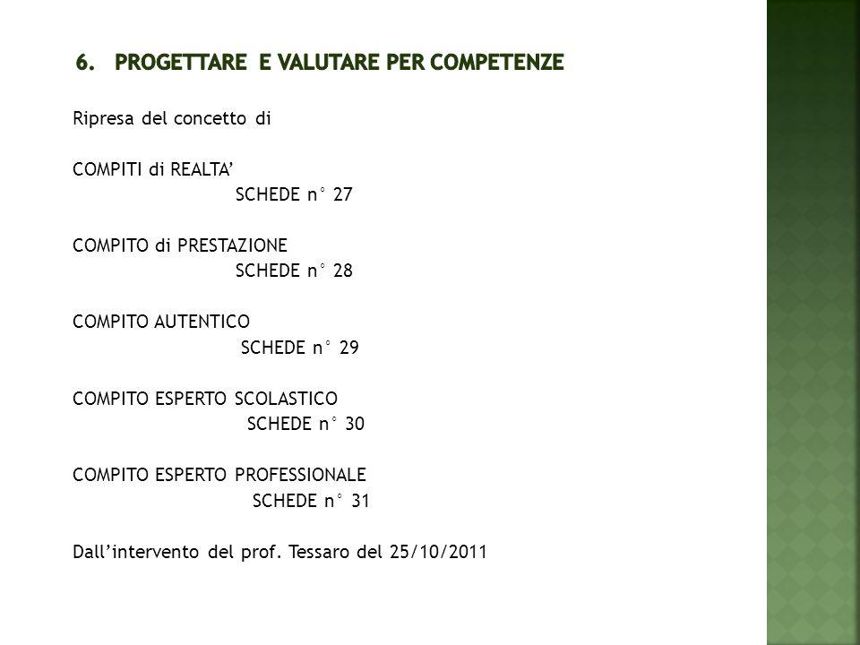 6. Progettare e valutare per competenze