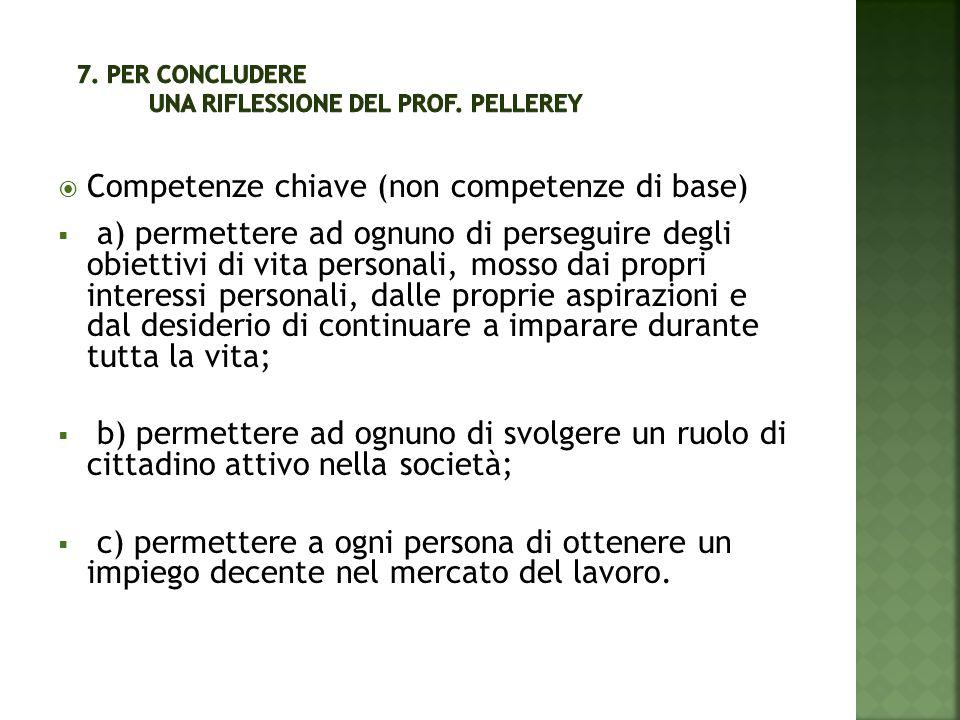 7. Per concludere una riflessione del prof. Pellerey