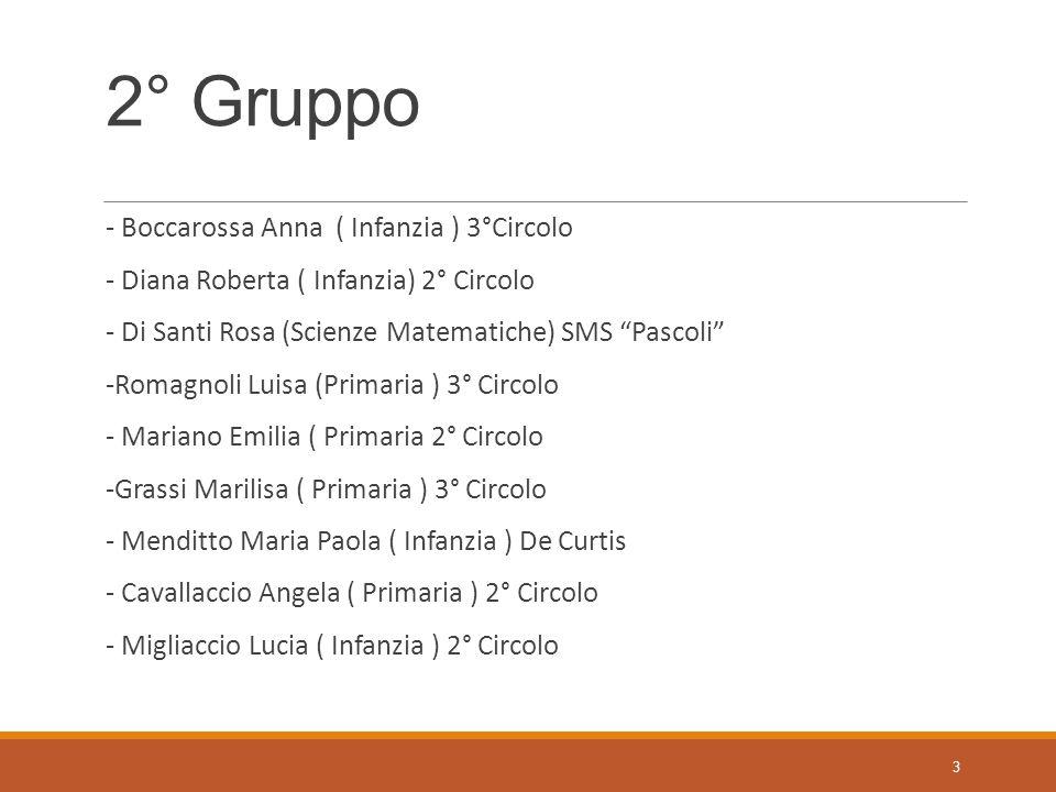 2° Gruppo - Boccarossa Anna ( Infanzia ) 3°Circolo