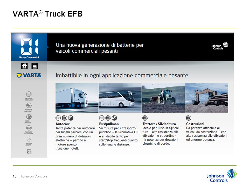 VARTA® Truck EFB Johnson Controls