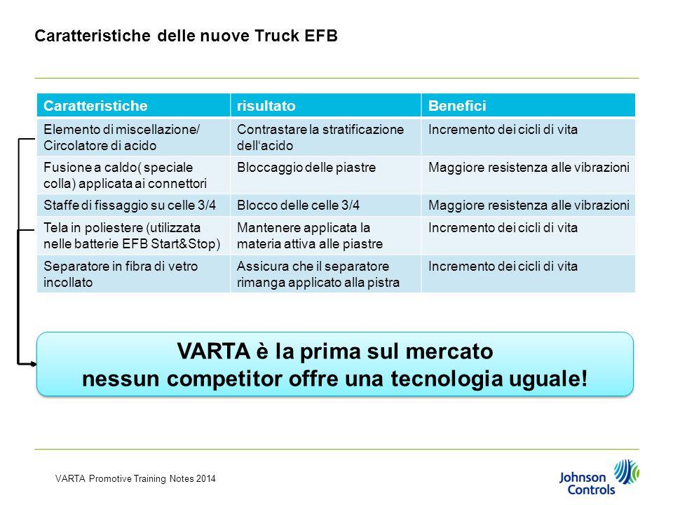 Caratteristiche delle nuove Truck EFB