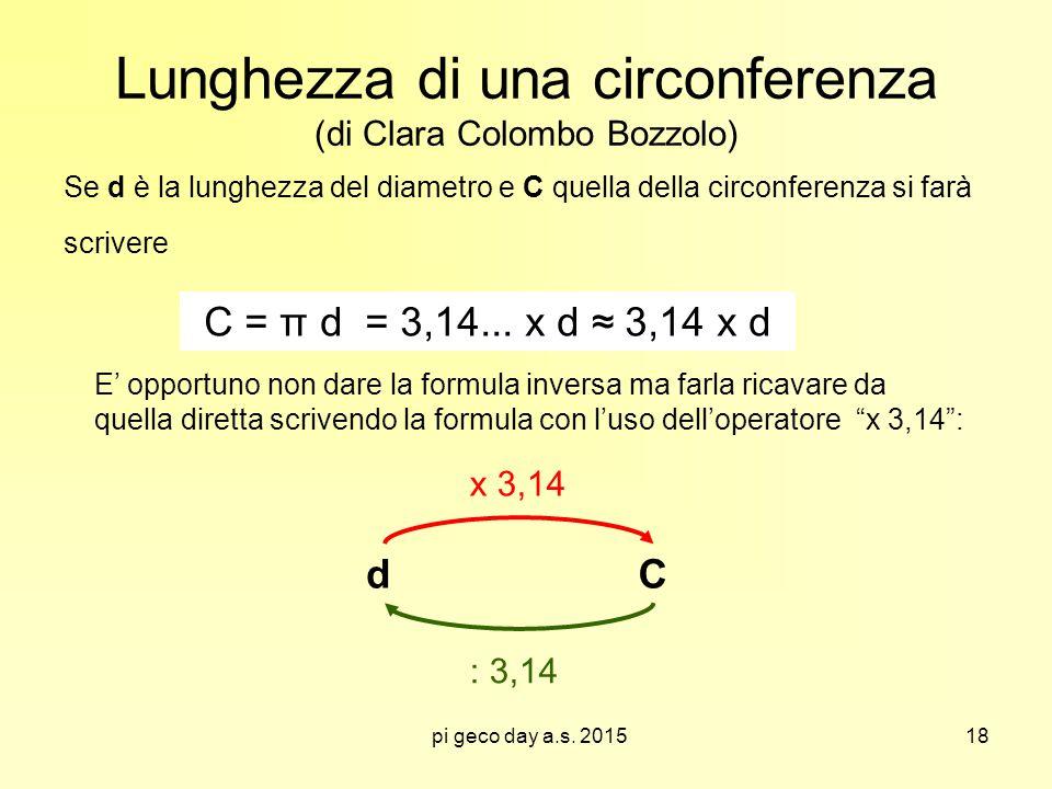 Lunghezza di una circonferenza (di Clara Colombo Bozzolo)