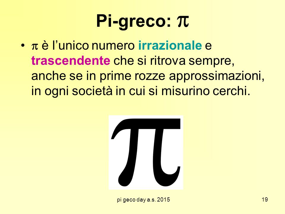 Pi-greco: 