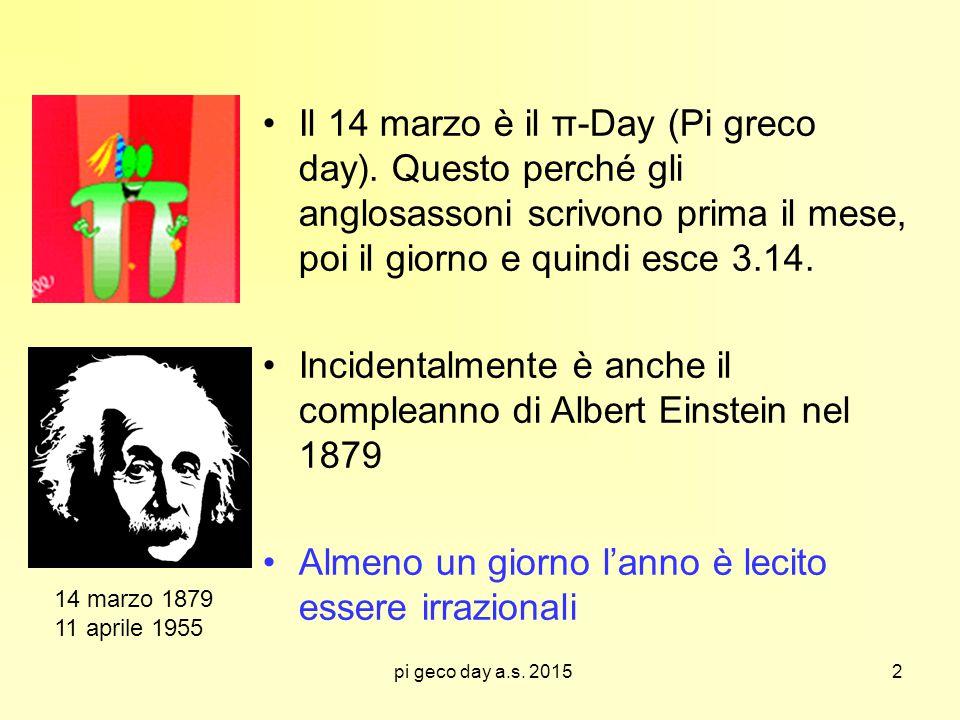 Incidentalmente è anche il compleanno di Albert Einstein nel 1879