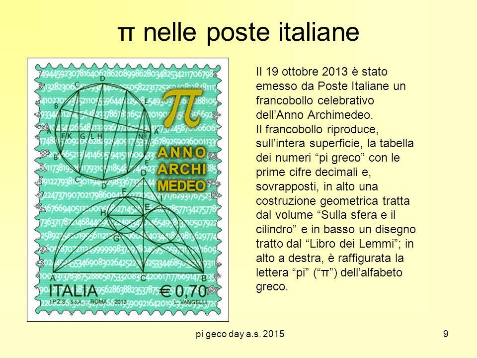 π nelle poste italiane
